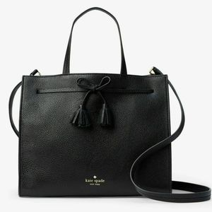 NWT Kate Spade | Black Leather Hayes Small Satchel